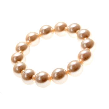 13mm Ivory Shell Pearl Stretch Bracelet