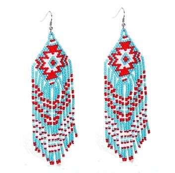 Southwest Beaded Long Earrings
