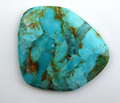 56.995 Carat Compressed Stabilized Turquoise Loose Gemstone