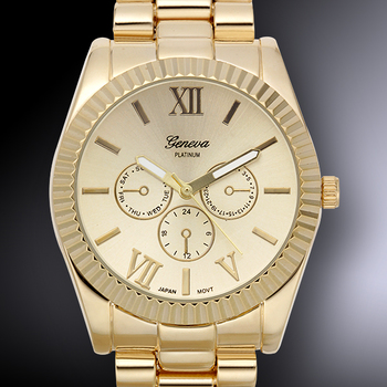Gold Tone, Gold Dial, Ladies Watch