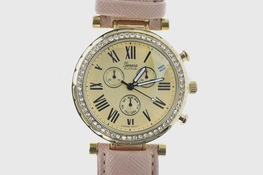Luxury Multi Functional Quilted Ladies Watch