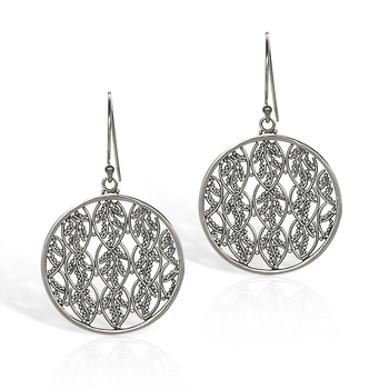 Round Filigree Earrings in Sterling Silver