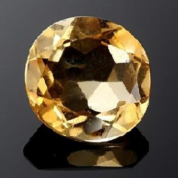 1.605 Carat tw (2) Round Citrine Loose Gemstone