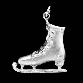 Sterling Silver Ice Skate Charm /Pendant with Chain