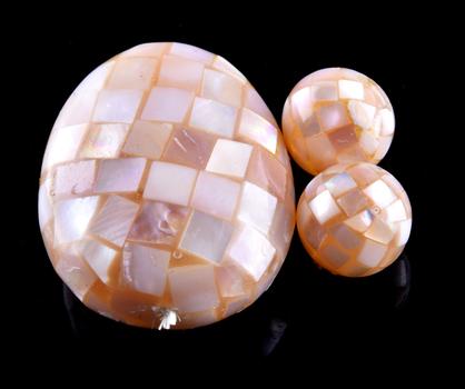 77.160 Carat Mosaic Pink Mother of Pearl Loose Gemstone
