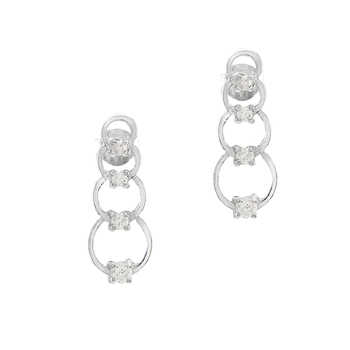 Sterling Silver Stacked Circle Earrings