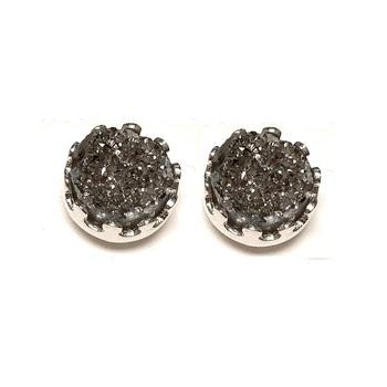 Silver Druzy 10mm Stud Earrings in Sterling Silver