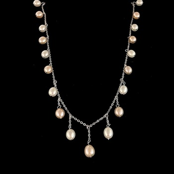 16 inch Sterling Silver Pearl Necklace