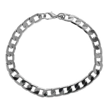 """Stainless Steel Mens Figaro 8"""" Bracelet"""