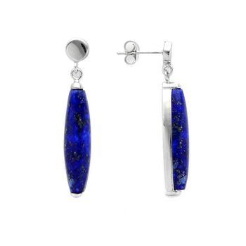 Sterling Silver Lapis Drop Earrings