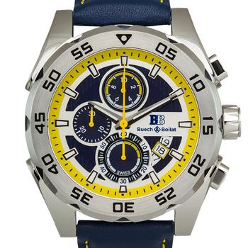Chronograph Leader Strap Men's Watch