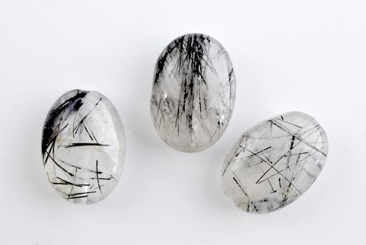 18.480 Carat Black Rutilated  Loose Gemstone