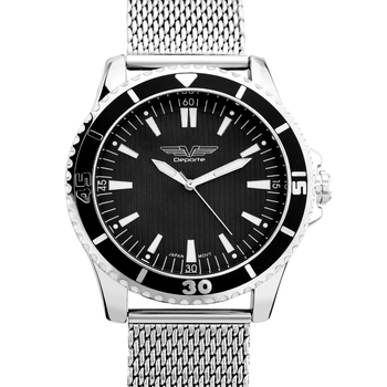 Classic Coin Edge Bezel Mesh Bracelet Men's Watch