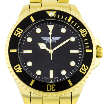 Casual Bright Markers Bezel Men's Watch