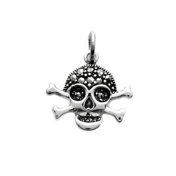 Marcasite Skull/Cross Bone Pendant