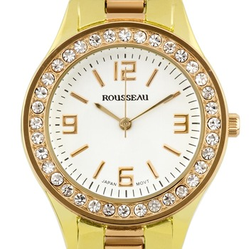 Rousseau Rene Ladies Watch - Two Tone Rose Gold/Gold Bracelet, Gold Case, Silver Dial* 24 hrs! No Reserve *