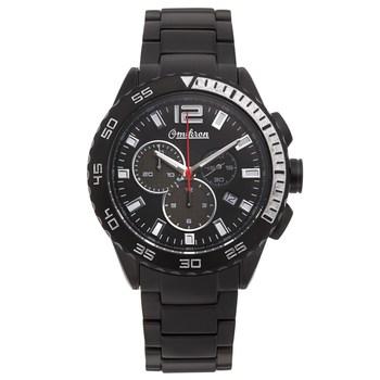 Omikron Bateleur Chronograph Mens Watch - Black Bracelet, Black Case, Black Face* 24 hrs! No Reserve *