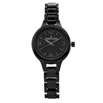 Charles Latour Aura Ladies Watch, Black Bracelet, Black Dial* 24 hrs! No Reserve *