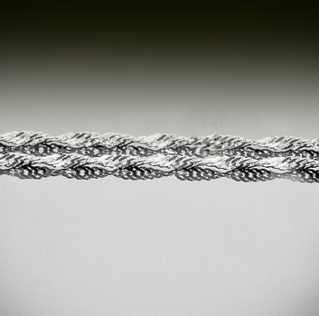 18 inch Sterling Silver singapore Twisted Chain