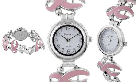 Cancer Logo, Unique Strap Ladies Watch
