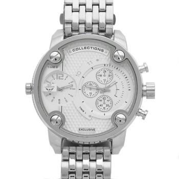Luxury Silver Tone, Men's Watch