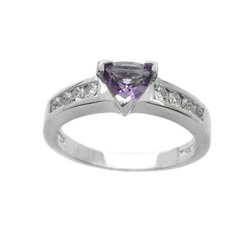 Sterling Silver Amethyst Band Ring