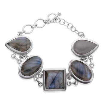 Sterling Silver Labradorite Adjustable Toggle Bracelet