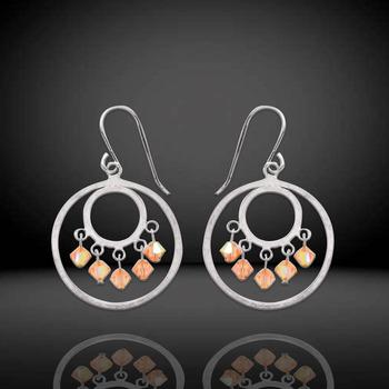 Sterling Silver Crystal Dangle Earrings