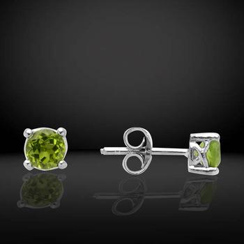 Sterling Silver Peridot CZ Stud earrings