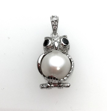 Sterling Silver Owl Pendant with Chain