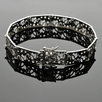 Sterling Silver Elephant Silhouette Bracelet