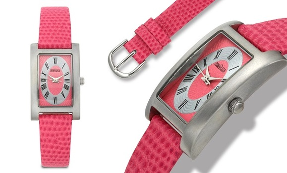 Hot Pink, Leather Strap, Ladies Strap