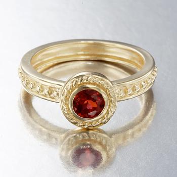 14k over Sterling Silver Garnet Ring Size 7