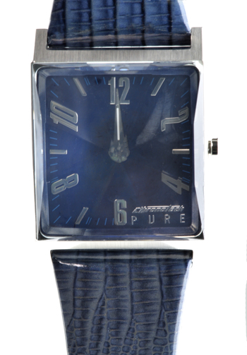 Causal Square Face Leather Men's Watch