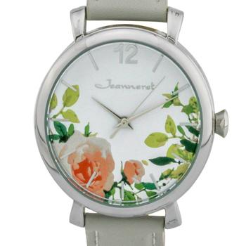 Floral Dial Casual Ladies Watch