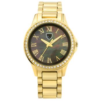 Crystal Bezel, Gold Tone Ladies Watch