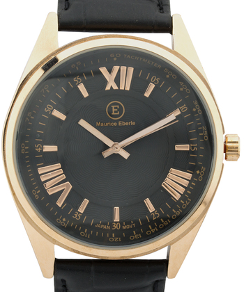 Roman Numbers, Black Leather Strap