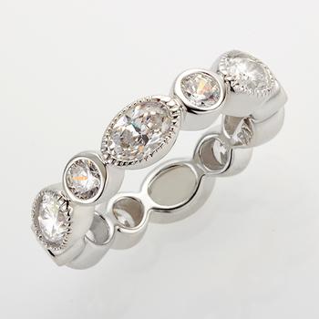 Sterling Silver CZ Ring SZ 6