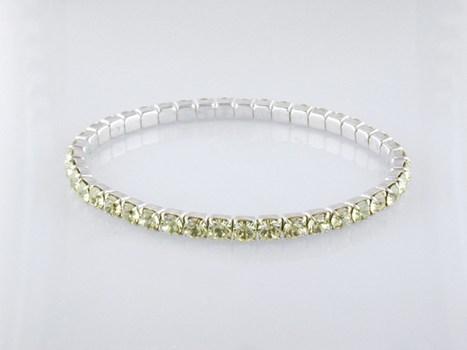 """Sparkling Yellow Cz  Stretch Bracelet 7"""""""
