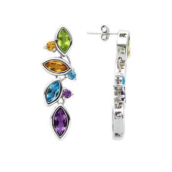 5.78cwt Multi Gemstones Drop Earrings