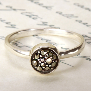 Sterling Silver Marcasite Ring ~ Size 7
