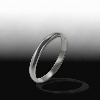 Sterling Silver 3mm Polished Wedding Band Size 7
