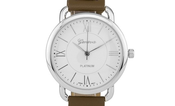 Casual Brown Leather Watch