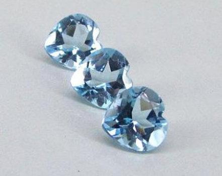2.715 Carat AAA Sky Blue Topaz Loose Gemstone