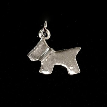 Sterling Silver Terrier Dog  Charm