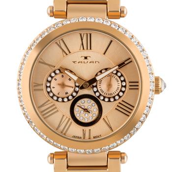 Multi-Function Rose Gold Tone Ladies Watch