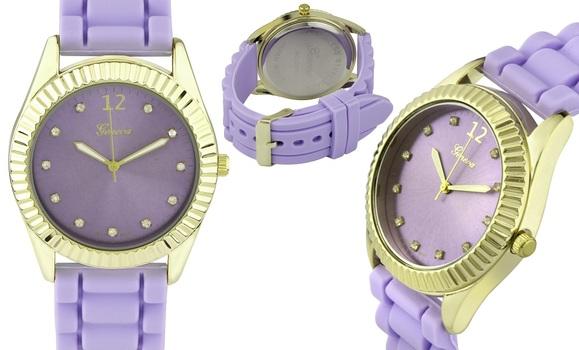 Purple Tone, Silicone Strap, Ladies Watch