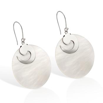 Sterling Silver Mother of Pearl Earrings