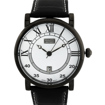 Mix Dial Numbers, Leather Strap, Men's Watch