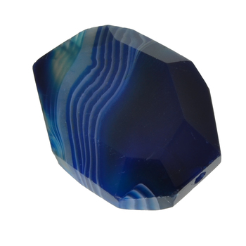 126.20 Carat Blue Agate Full Drilled  Loose Opaque stone